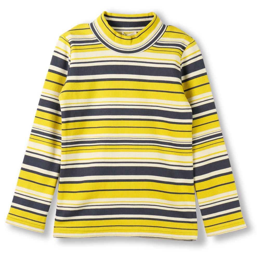 テレコボーダーハイネックTシャツ